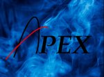 Apex Logo blue background